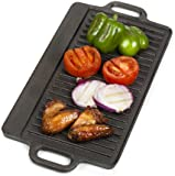 VonShef Non-Stick Cast Iron Reversible Griddle