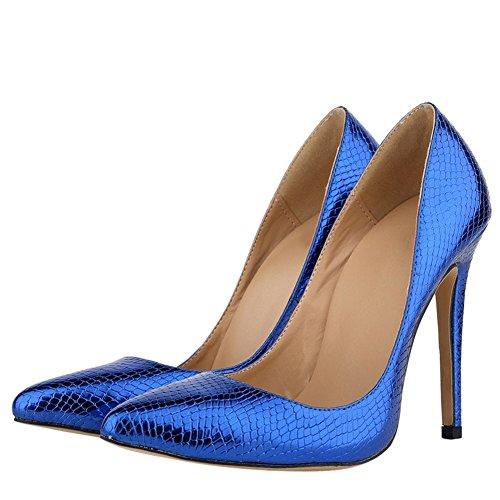 OCHENTA - Sandali con Zeppa donna (Blue-1E)