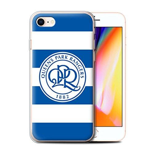 Offiziell Queens Park Rangers FC Hülle / Gel TPU Case für Apple iPhone X/10 / Heiß Rosa Muster / QPR Fußball Crest Kollektion Hoops/Königsblau