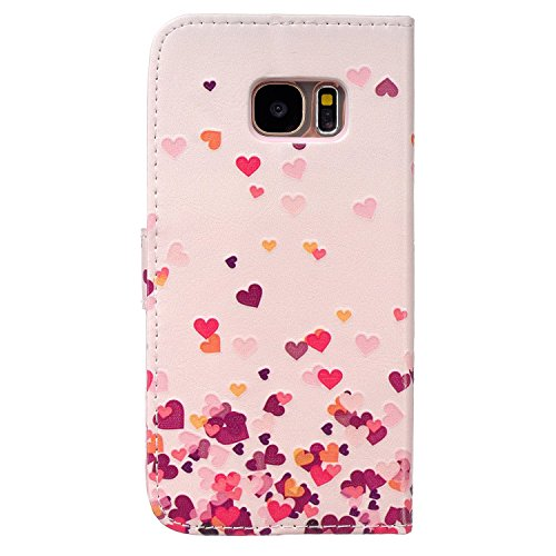 Custodia per iPhone 6s Plus Rosa,TOCASO Flip Case PU Pelle [Wallet Design] Caso per iPhone 6s Plus Portafoglio Cover Ultra Sottile Leather Protettivo Cases Covers Shell ID Carta Slots Caso Guscio Cope Pink Love