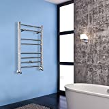 Hapilife 800*500mm Designer Chrome Finish Heated Towel Radiators Towel Rail Warmer Designer Chrome Bathroom Radiators