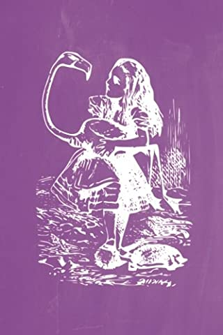 Alice in Wonderland Pastel Chalkboard Journal - Alice and The Flamingo (Purple): 100 page 6