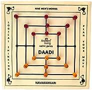 Ancient Living Daadi / Navakankari / Nine Men's Morris Board