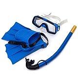 hifuture 3Kid Dive Set PVC Skibrille Knöchel Atmen Tubes Kinder Schnorcheln Anzug für Kinder von 8bis 14Jahre Vier Farben erhältlich blau