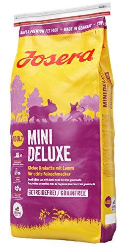 JOSERA MiniDeluxe (1 x 15 kg) | getreidefreies Hundefutter für kleine Rassen | mit Lamm und Süßkartoffel | Super Premium Trockenfutter für ausgewachsene Hunde | 1er Pack