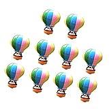 FITYLE Miniatur Ornament Kits Set für DIY Fairy Garden Puppenhaus Dekoration - 10pcs Heißluftballon, 2.4x3.0cm