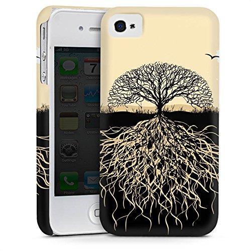 Apple iPhone 3Gs Housse étui coque protection Arbre Racines Nature Cas Premium mat