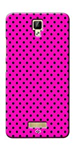 Digiprints Soft Pc Slimfit Lightweight Back Cover For Gionee P7 Max,Black Dotted Design Pink Printed Back Case Cover For Gionee P7 Max