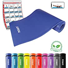 POWRX Gymnastikmatte Premium inkl. Trageband + Workout GRATIS I Hautfreundliche Trainingsmatte Yogamatte Phthalatfrei 190 x 60 oder 100 x 1.5 cm I versch. Farben