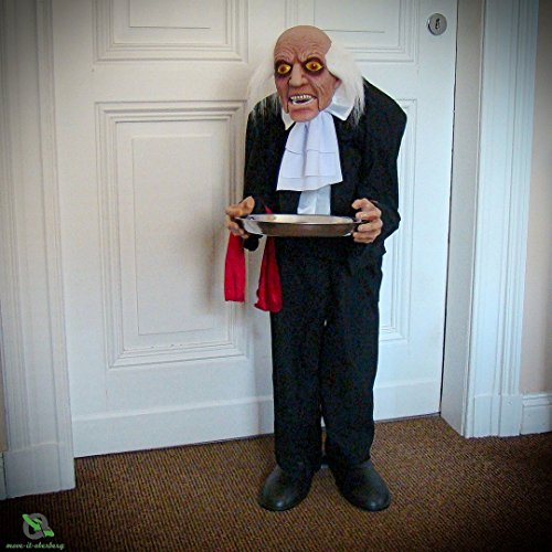Animierte Halloween Butler - move-it-oberberg Halloween Kellner Deko-Butler mit Tablet