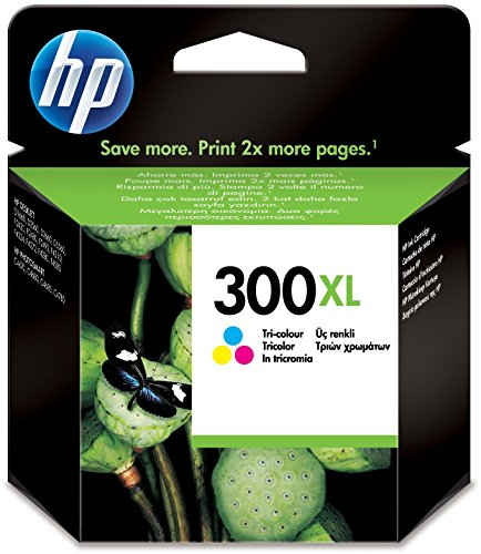 HP 300XL Farbe Original Druckerpatrone mit hoher Reichweite für HP Deskjet D1660, D2560, D2660, D5560, F2480, F4224, F4280, F4580; HP ENVY 110, 114, 120, HP Photosmart C4680, C4780 (Tintenpatrone Hp F4435 Deskjet)