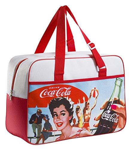 Meliconi coca cola vintage borsa termica lunch bag 24 lt, 600d pu, fantasia, 45x18x31 cm