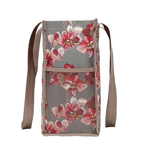 Signore/ragazze Shopping Bag a tracolla in tela Mattina Giardino Design Orchidea