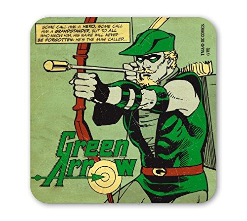 DC Comics Untersetzer - Green Arrow - Superheld - grün - Lizenziertes Originaldesign - LOGOSHIRT (Authentischen Superhelden Kostüme)
