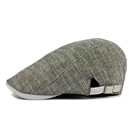 Bobury Bérets de Rayure d'été de Ressort Chapeaux de béret de Style d'Angleterre pour des Hommes ou des Femmes Casquette