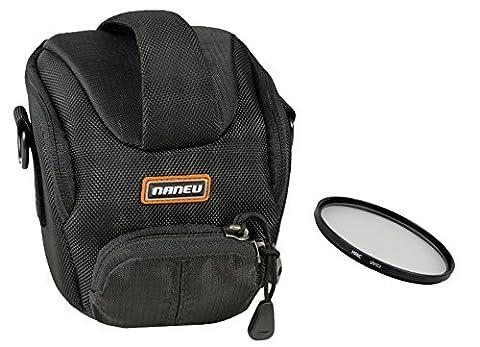 Hochwertige NANEU CORRESPONDENT C3 Tasche im Set mit UV Filter 58mm