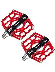 """Forfar pedales de la bicicleta rojo DH MTB BMX Pedal de descenso Pedales de plataforma s 9/16"""""""