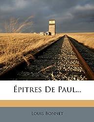 Epitres de Paul...