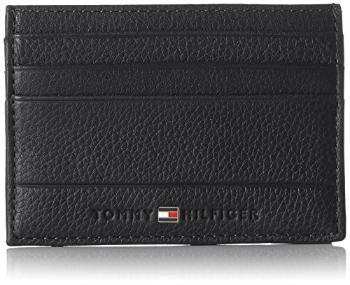 Tommy Hilfiger Core Cc Holder, Porte-monnaie homme, Black, 0.5x4.5999999999999996x10.7 cm (W x H L)