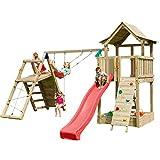Blue Rabbit 2.0 Spielturm PAGODA mit Rutsche 2,90 m + große und kleine Kletterwand + Doppelschaukel...