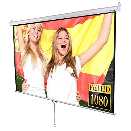 Jago Beamer Leinwand (Größenwahl) Heimkino 203x203cm (Diagonale ca. 289cm / 113 Zoll) HDTV tauglich