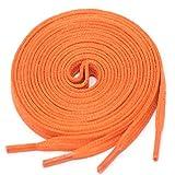 LACCICO Schnürsenkel ORANGE | 4 mm breit & 60-120 cm | flach reißfest gewachst; Farbe:Orange Länge:75 cm