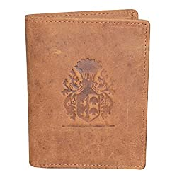 Style98 Hunter Tan Pure Leather Unisex Slim Money Clip Wallet||Long Wallet