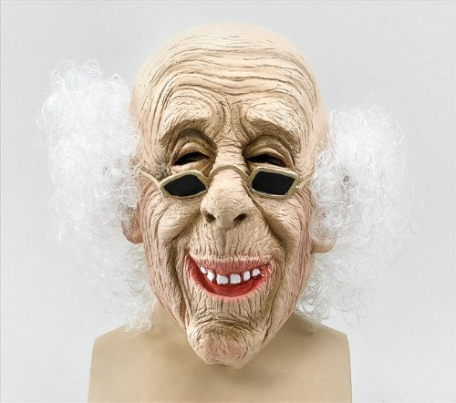 Bristol Novelty Bm235 Old Man Maske und Haar Maske, eine - Scary Halloween-events