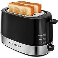 Aigostar Brotchen Black 30HIL – Grille-pain 2 fentes, 850 W, couleur noir. Fonction décongeler et maintenir au chaud, température réglable. Sans BPA. Design exclusif.
