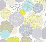 Esprit Vliestapete Dream of Spring Tapete floral 10,05 m x 0,53 m blau grau grün Made in Germany 327631 32763-1