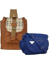 Element Cart Stylish Pack Of 1 Sling Bag And 1 Back Pack Bag For Women/Girls - B07FPBR2HK