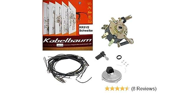 Kabelbaum mit farbigen A4 Schaltplan Simson KR51//2 Schwalbe AKA Elektric