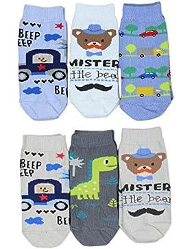 TupTam Unisex Kinder Socken Bunt Gemustert 6er Pack