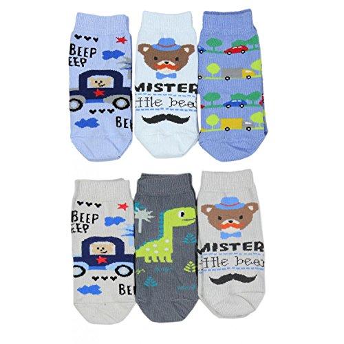 Socken Bunt Gemustert 6er Pack, Farbe: Junge, Socken Größe: 19-22 ()
