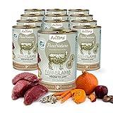 AniForte® PureNature Nassfutter 400g Farms Lamb Hundefutter- Naturprodukt für Hunde (Herzhaftes Lamm, 12x400g)