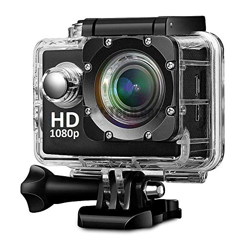 Teconica Pro Hero7 1080p Action Camera with 170° Ultra Wide-Angle Lens and Full Accessories Kit 12 Megapixel Ultra HD Sports Camera - Black