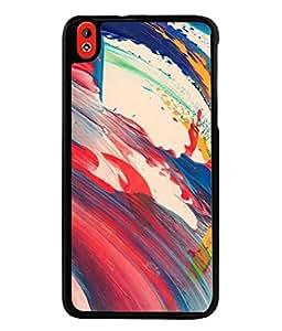 PrintVisa Designer Back Case Cover for HTC Desire 816, HTC Desire 816 Dual Sim, HTC Desire 816G Dual Sim (Watercolor Backdrop Marbling Pattern Acrylic Dynamic Beautiful Fantasy)