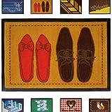 Jago Fußmatte Türvorleger Fußabtreter Flur Schuhabstreifer für Eingangsbereiche in acht verschiedenen Designs 40x60cm