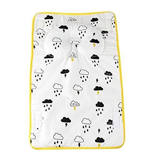 Kakiblin - Cambiador de pañales portátil 2 en 1 para bebé, antideslizante, para cabeza y cuello, color amarillo