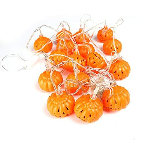 Goolsky 16 led pumpkin string lamps decorazione lights 137.7in fili per natale halloween party home decor