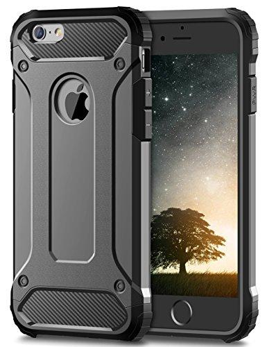 Coolden iPhone 6S Plus Hülle, Premium [Armor Serie] iPhone 6 Plus Outdoor Stoßfest Handyhülle Silikon TPU + PC Bumper Cover Doppelschichter Schutz Hülle für iPhone 6 Plus/6S Plus (Grau) (I Phone 6 Plus Cover Für Männer)