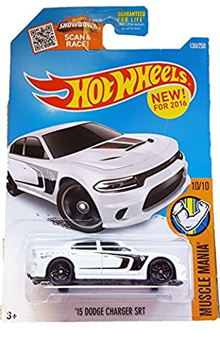Hot Wheels, 2016 Muscle Mania, '15 Dodge Charger SRT [White] #130/250