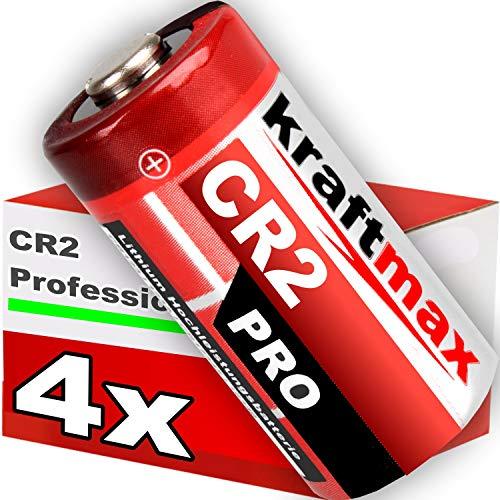 kraftmax 4er Pack CR2 Lithium Hochleistungs- Batterie für professionelle Anwendungen - Neueste Generation -