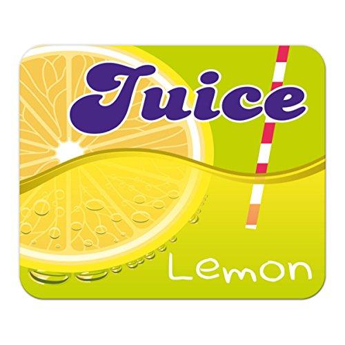 Gaming Mauspad mit Fotodruck Mousepad 220 x 180 mm Rutschfest Schwarz Fransenfreier Rand Präzision Retro Limonade Küche Zitronen Saft bedruckt Küche Saft