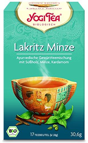 Yogi Lakritz Minze Tee BIO 6 Packungen à 17 Teebeutel (Bio-pfefferminz-lakritze)