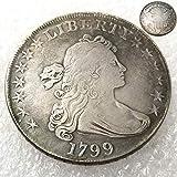 FKaiYin 1799 Antike Liberty Halbdollar Old Replica Münze - American Memorative Old Coin - Morgan Dollars Eagle Old Coins - Entdecken Sie Geschichte der US Münzen Zukunft. -