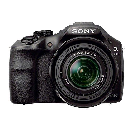 Sony ILCE3000KB a3000 E-Mount Systemkamera im SLR Gehäuse (20 Megapixel, Exmor APS-C CMOS Sensor, 7,6 cm (3 Zoll) LCD-Display, Live View, Full HD Video) inkl. E 18-55mm OSS Objektiv schwarz