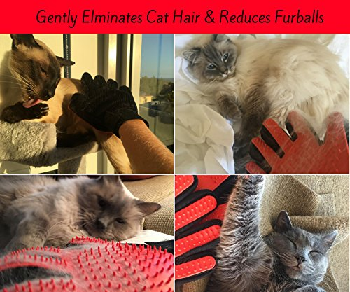Moggiez & Doggiez PET GROOMING GLOVE/DESHEDDING BRUSH – Pack of Two Gloves –Effective Cat and Dog Hair Remover… 4