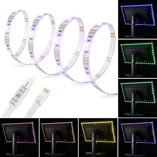 Kohree Bande LED USB 2m RGB Multicolore Ruban Rétroéclairage à LED pour TV