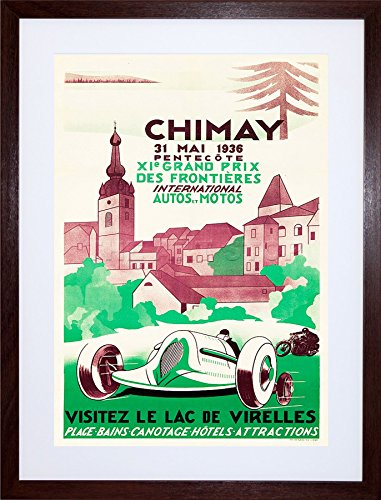 9x7-ad-motor-sport-chimay-brewery-belgium-hotel-spa-framed-art-print-f97x067